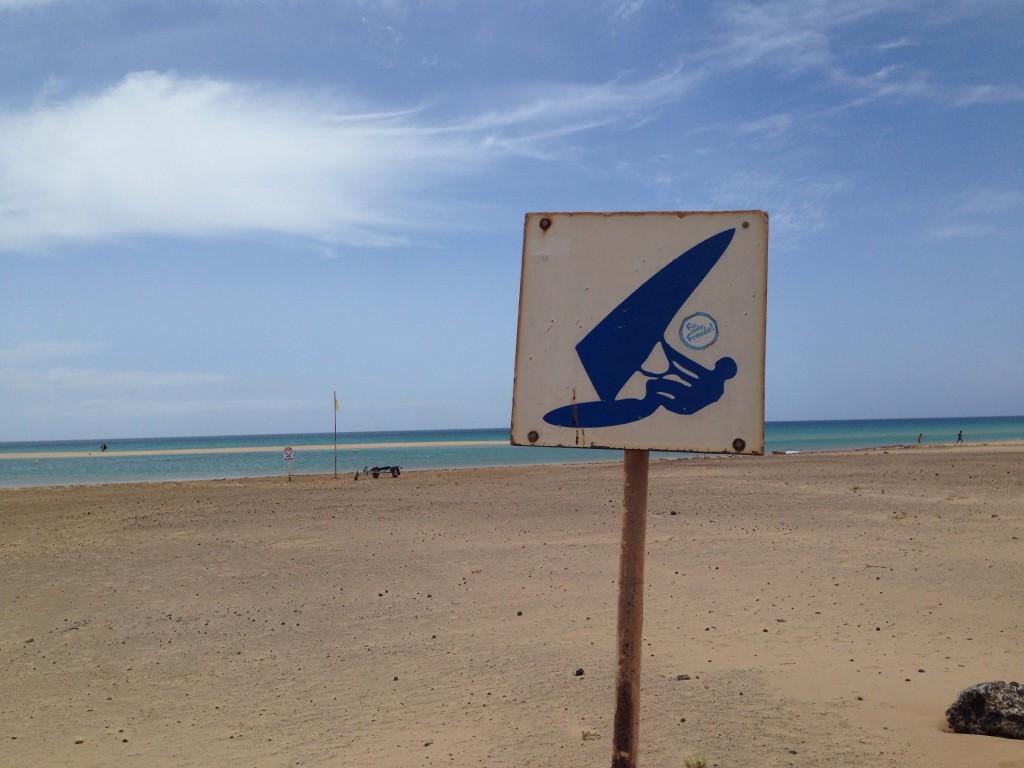 Zone autorisée pour la planche à voile!