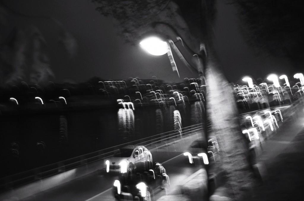 Sur les quais de Seine de nuit, j'adore quand c'est flou