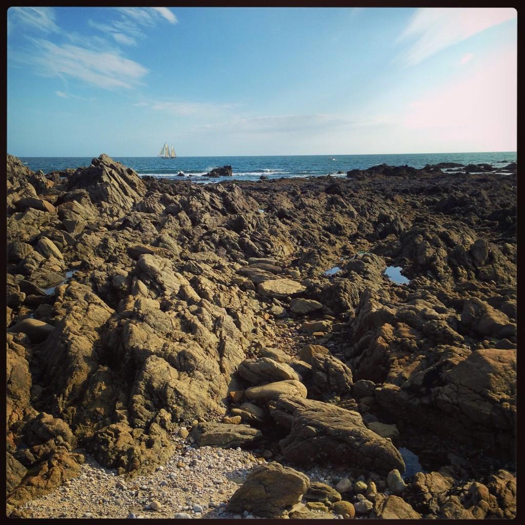 Un amas de granit à marée basse