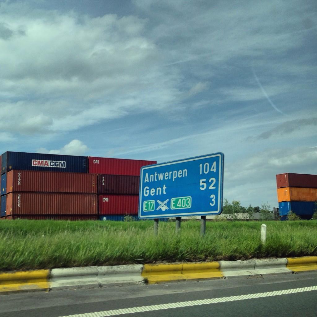 Sur la route du port d'Anvers