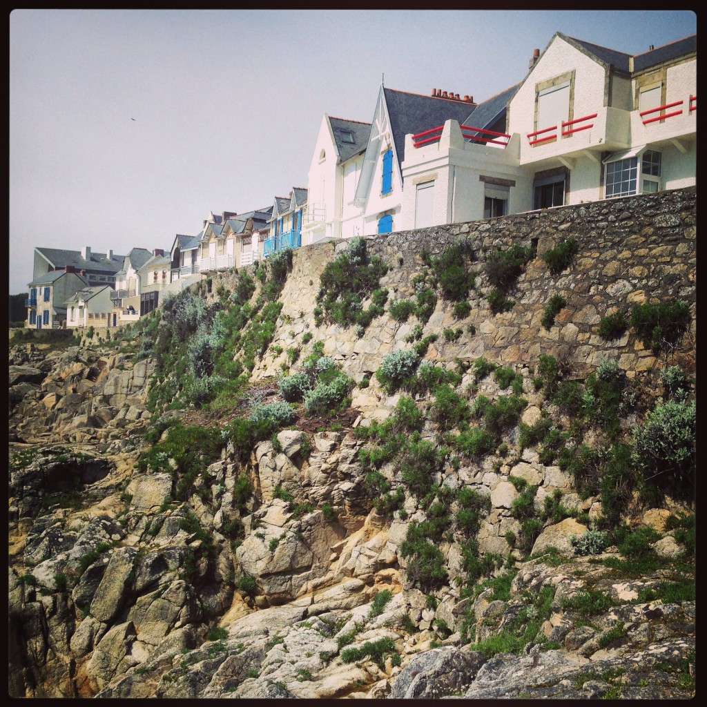 Des petites maison bretonnes face à l'océan