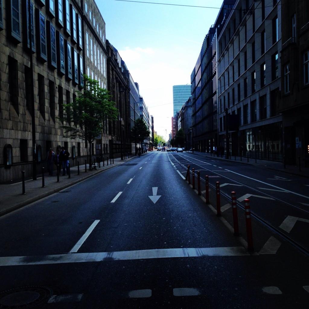 Perspective d'un centre ville allemand