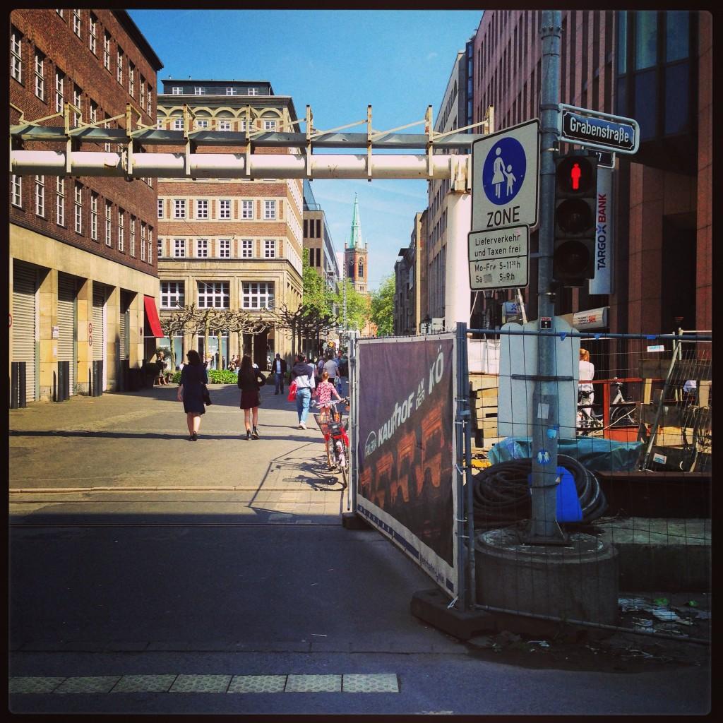 Düsseldorf ou la ville des travaux permanents.