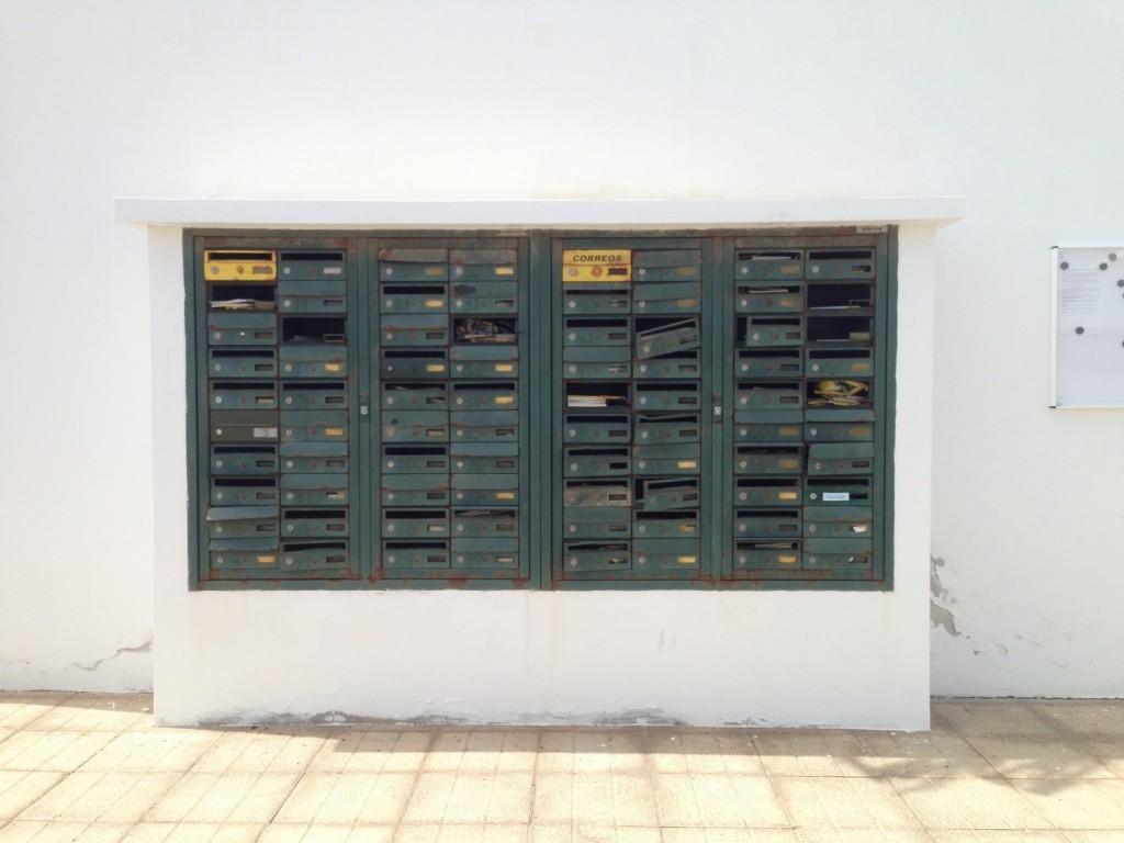 Des boîtes à lettre à l'abandon sur l'île de Fuerteventura