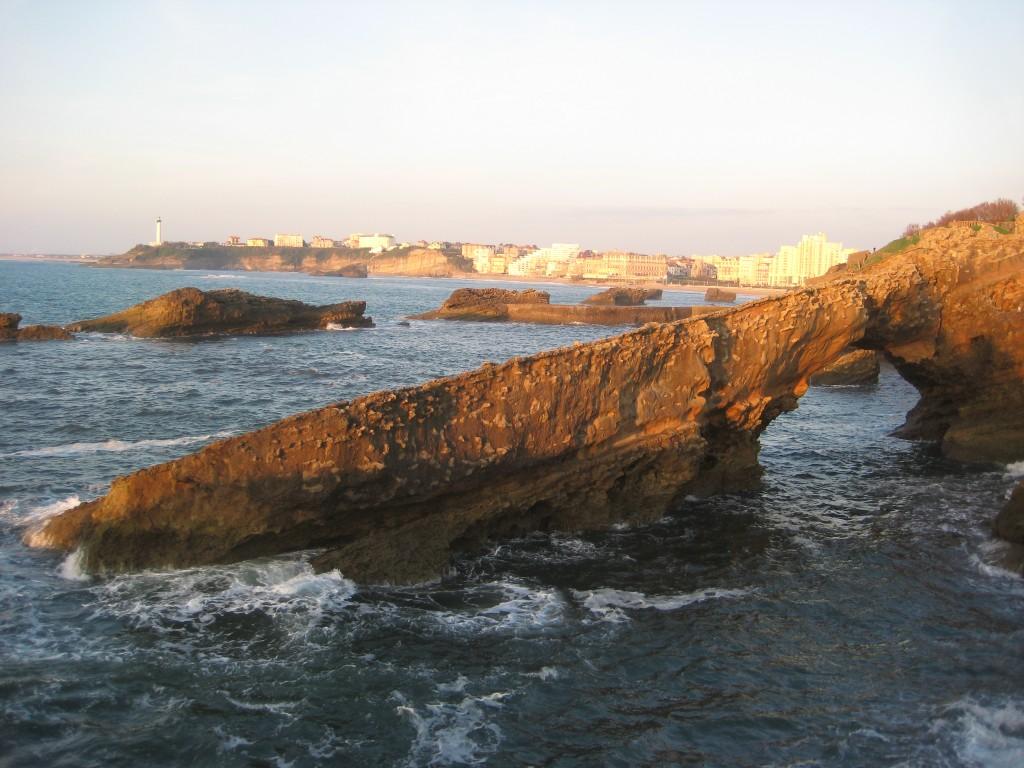 Biarritz depuis le rocher de la vierge