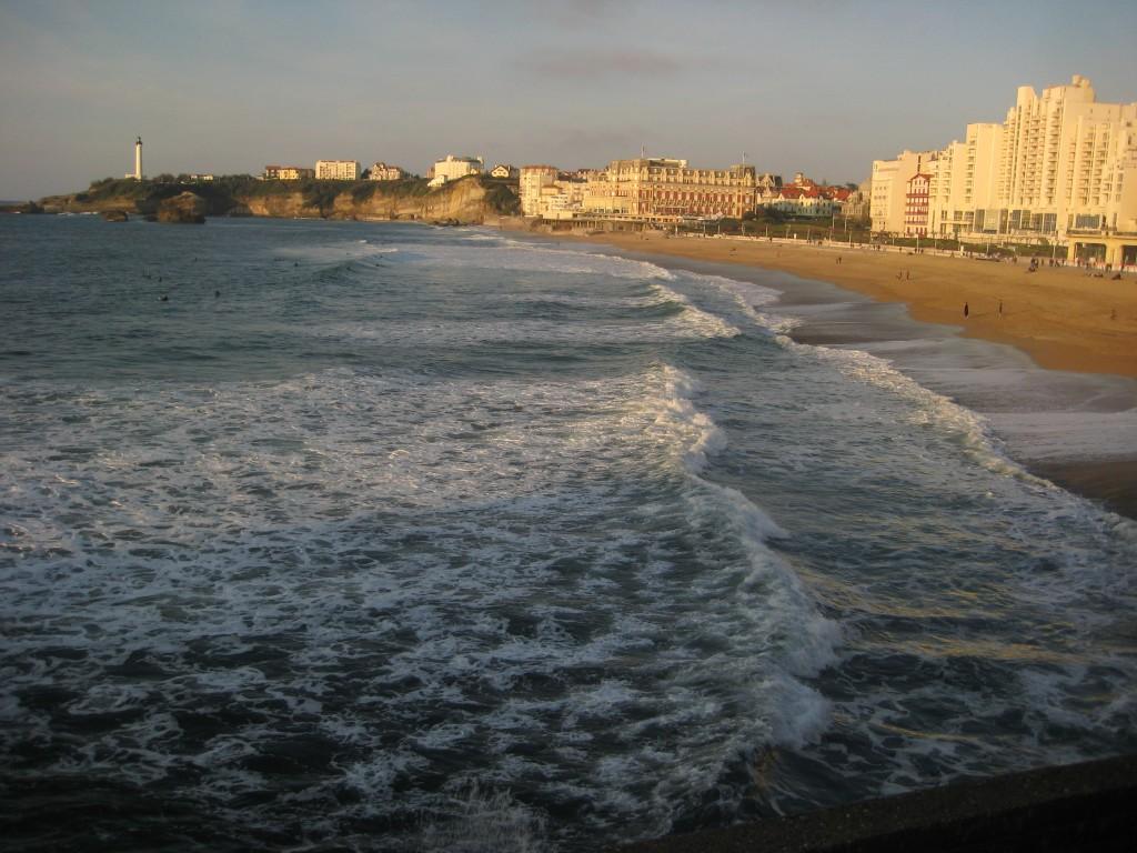Fin de journée sur Biarritz