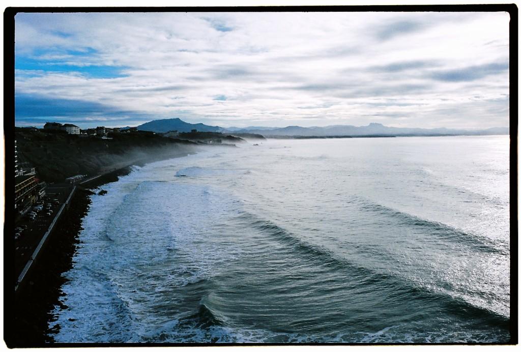 La côte des basques à Biarritz