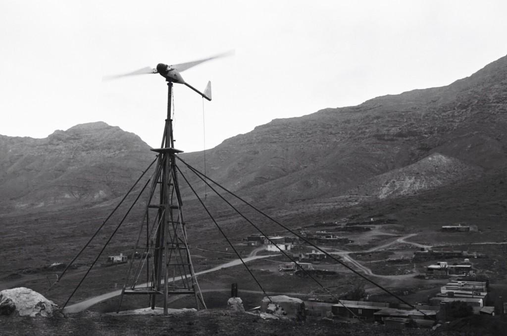 La seule source d'électricité pour le village de Cofete