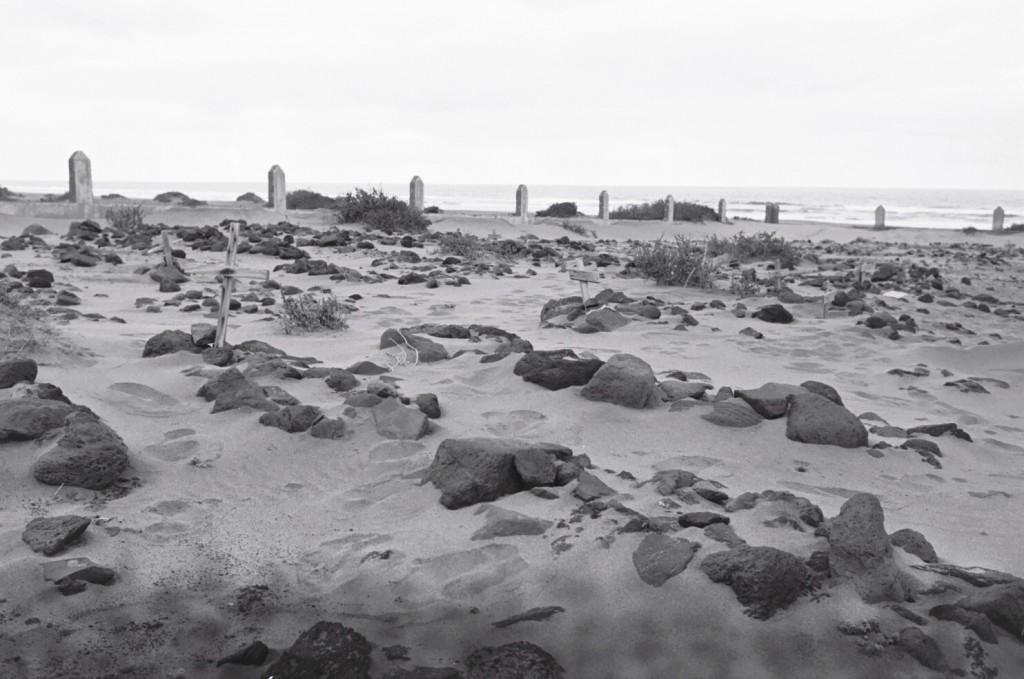Le cimetière est face à la mer