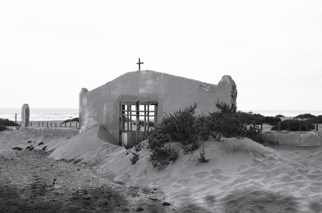 L'entrée du cimetière abandonné de Cofete