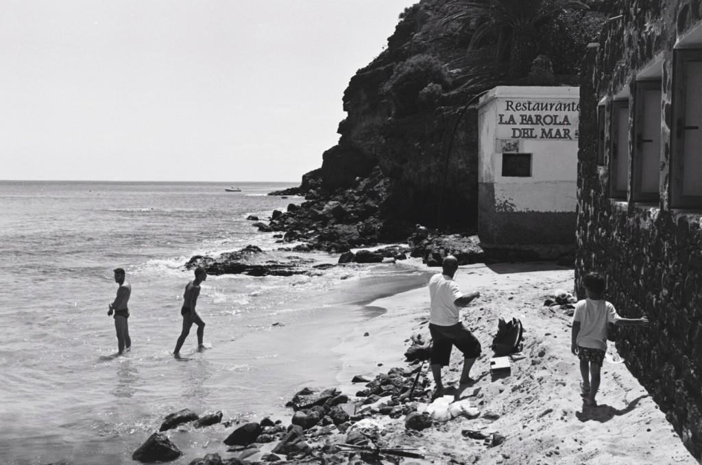 L'extrémité de la plage de Moro Jable