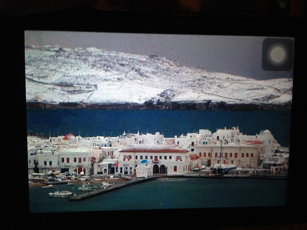 Mykonos, il neige une fois tous les 10 ans