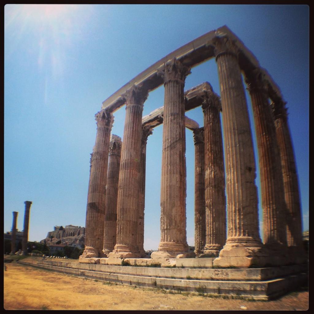 53. Le temple de Zeus à Athènes
