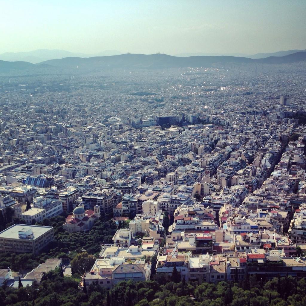 72. Vue sur la capitale grecque depuis la colline de Lycabette