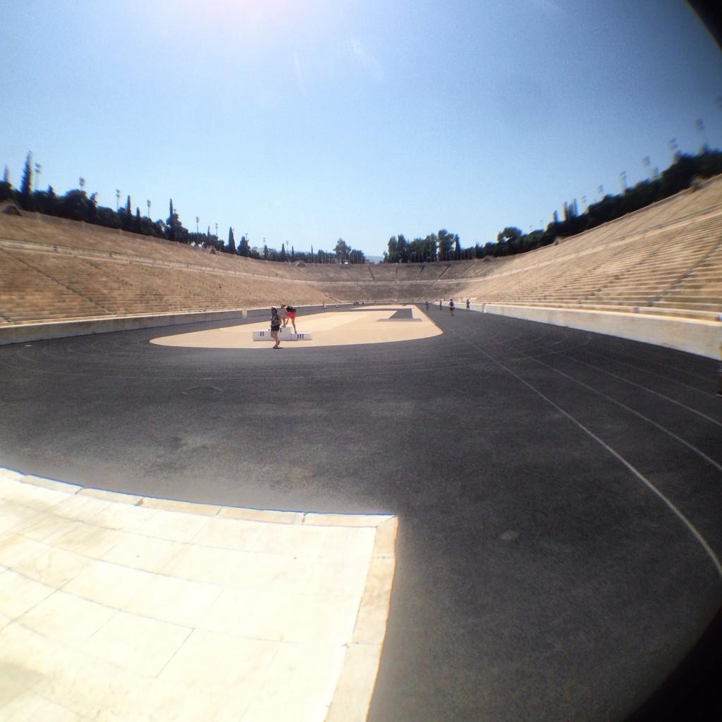 62. La piste du stade olympique d'Athènes