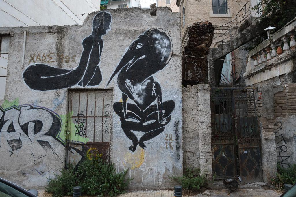 Athènes une ville où le street art s'exprime abondamment