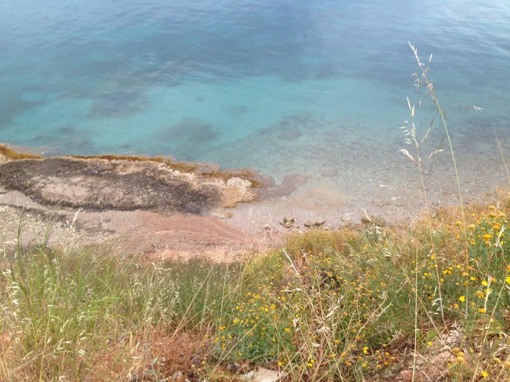 La côte sud-est de l'île de Spetsai
