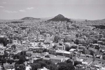 La colline du Lycabette est le point le plus haut de la ville d'Athènes