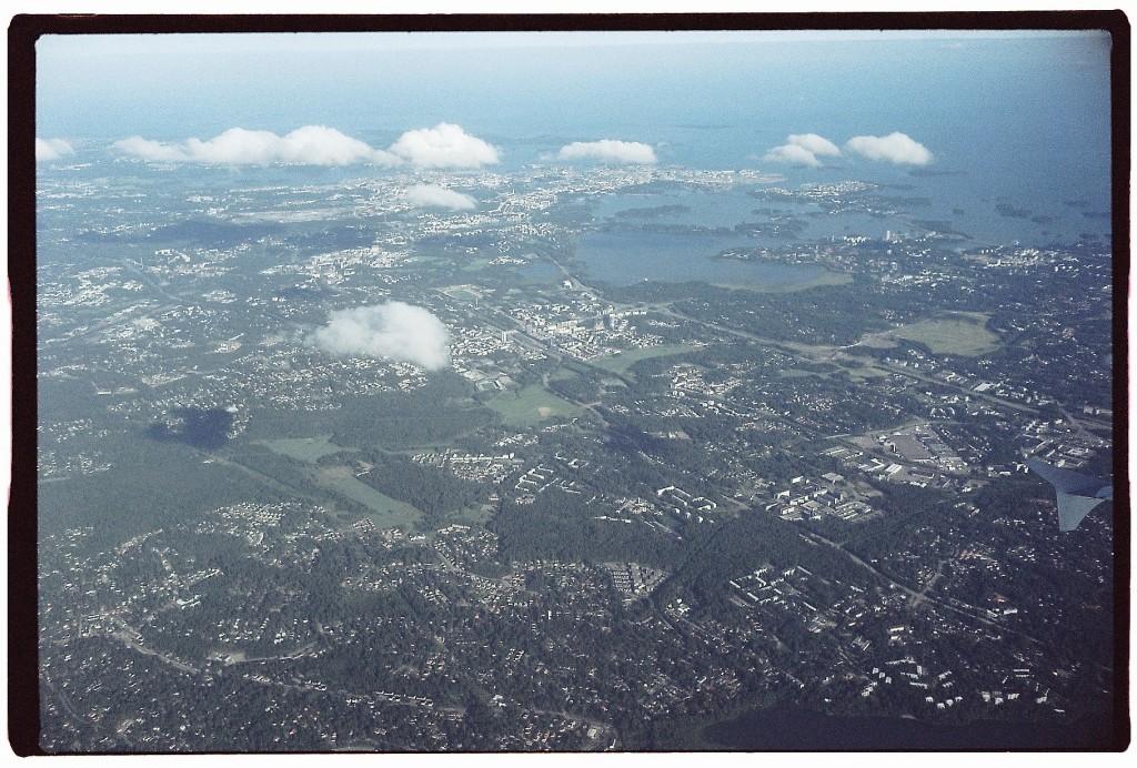 80. La région d'Helsinki vue du ciel