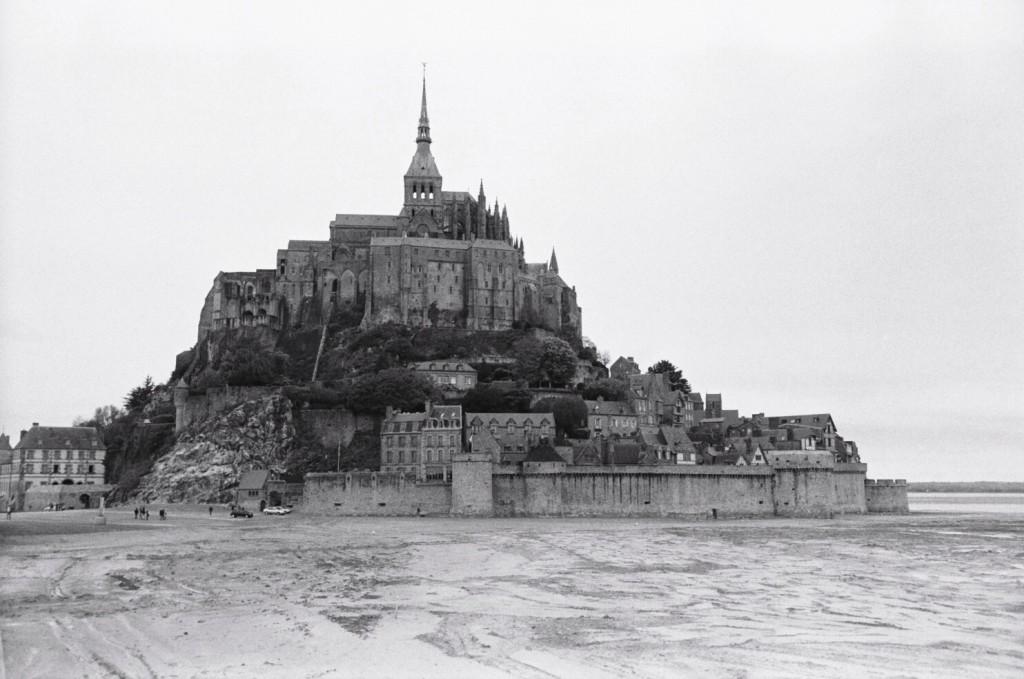 Le Mont Saint-Michel à marée basse