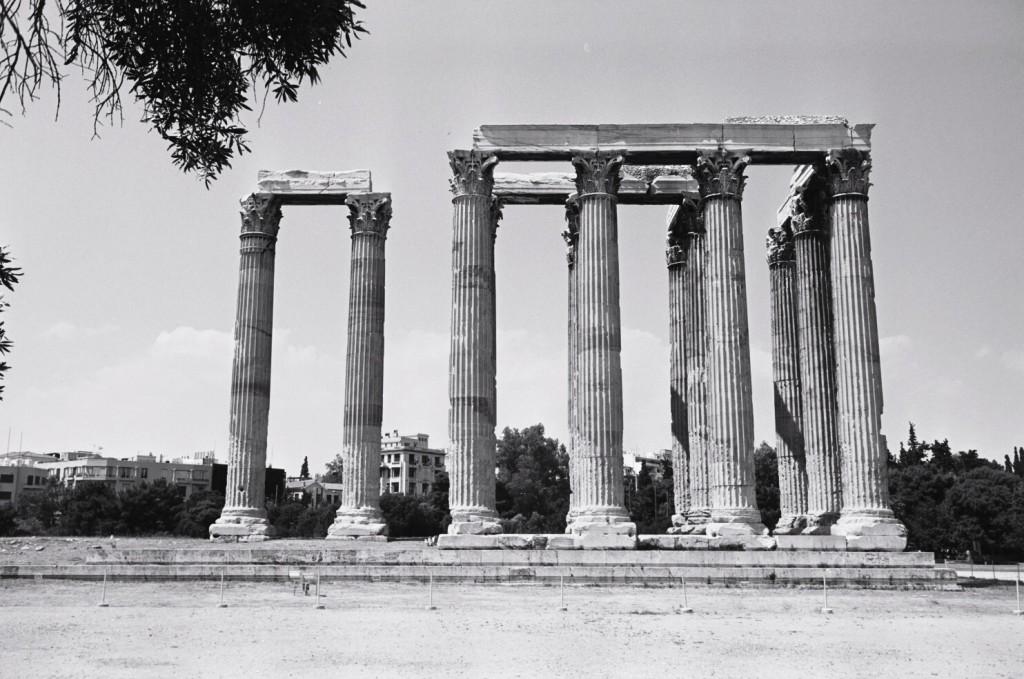 Les dernières colonnes du temple de Zeus à Athènes