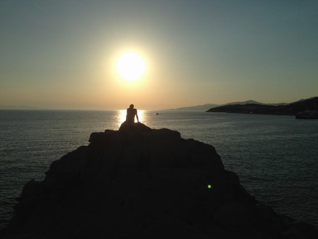 L'homme, le soleil et la mer