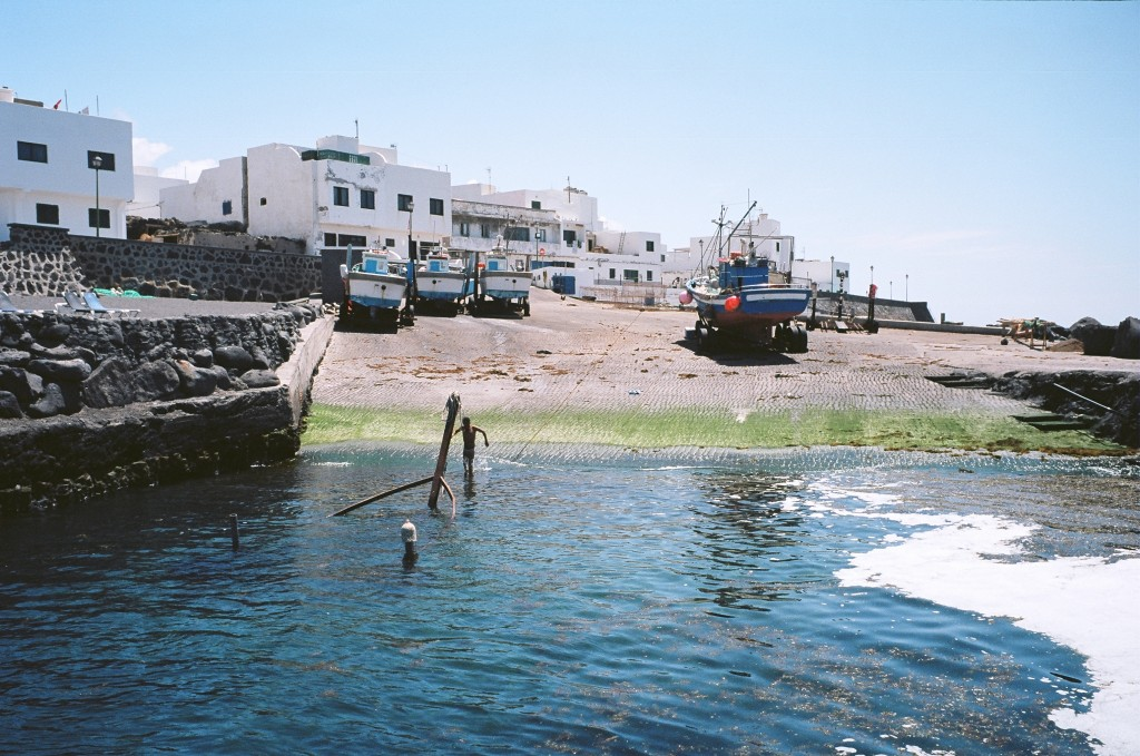Un petit village de pêcheur au nord ouest de l'île de Lanzarote