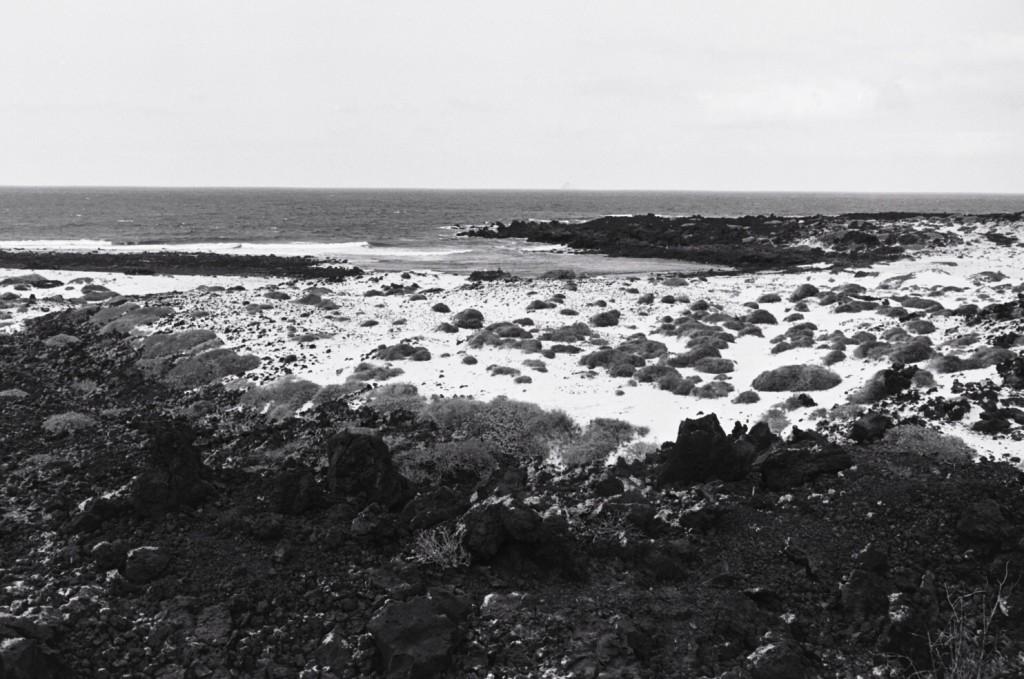 Une plage au nord-est de l'île de Lanzarote