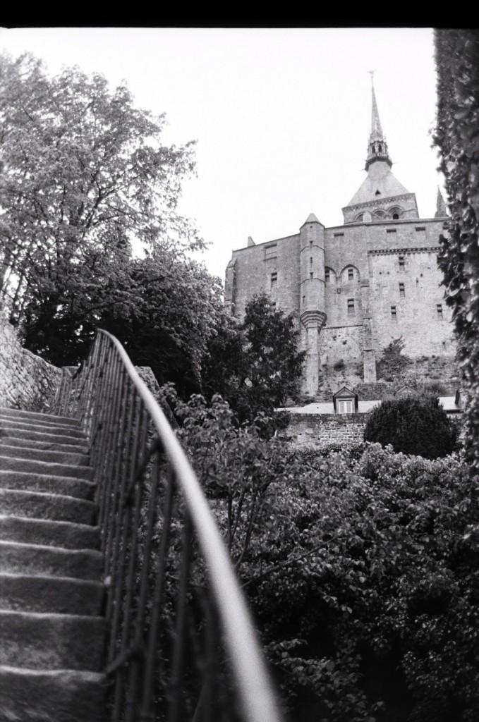Vue sur les jardins du Mont Saint-Michel