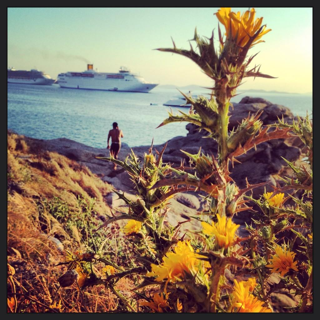 Fin de journée sur l'île de Mykonos