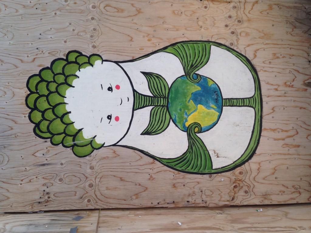 22. Street art finlandais, on notera l'influence du voisin russe