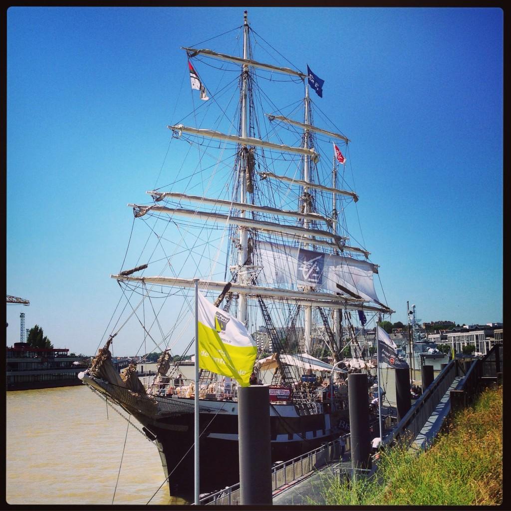 Visite à bord du Belem, lors d'une escale à Nantes