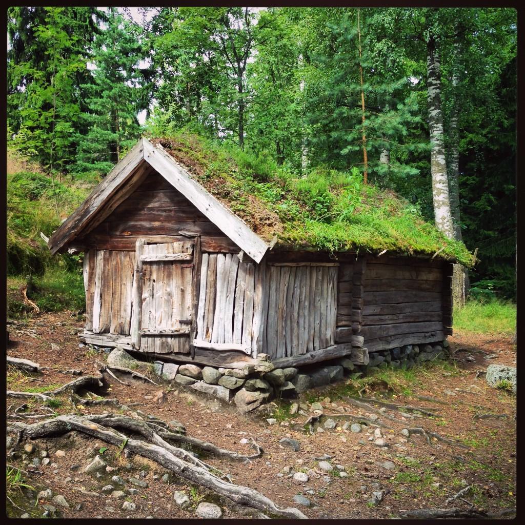 48. Une cabane traditionnelle finlandaise