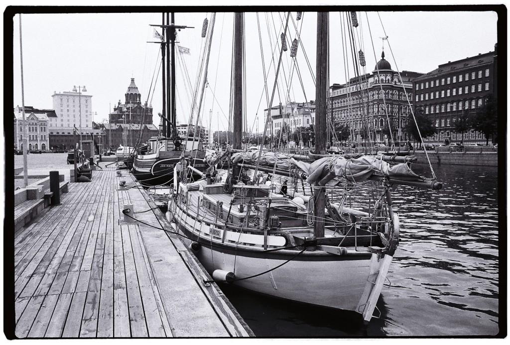 Sur les pontons du port HMVK d'Helsinki