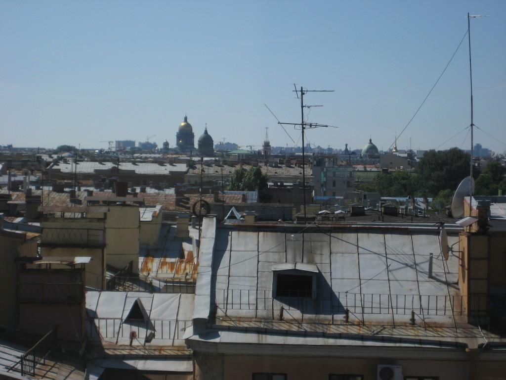 Vue sur les toits de Saint-Petersbourg