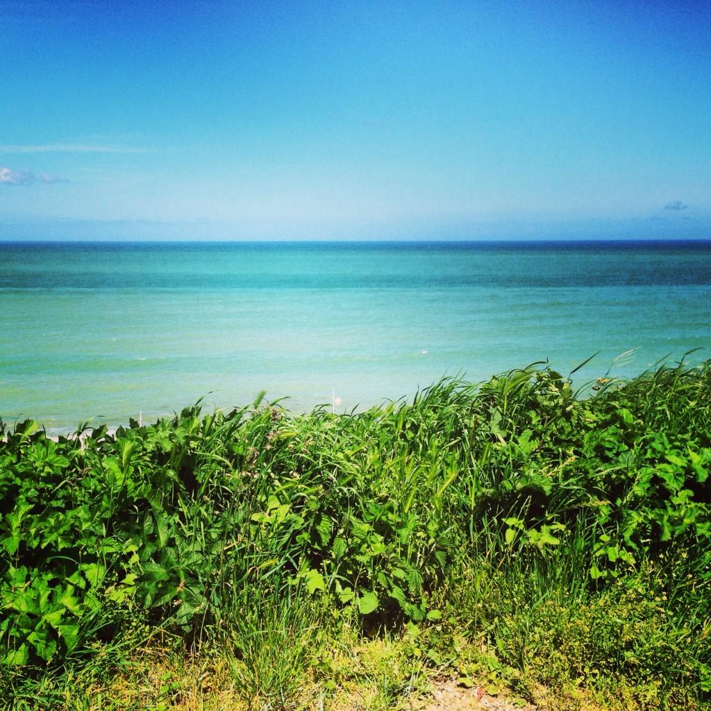 L'eau bleue turquoise de la Manche, Fécamp