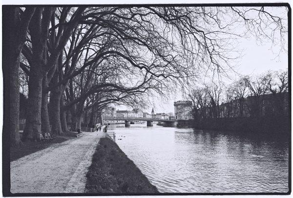 La Meuse à Verdun pendant l'hiver