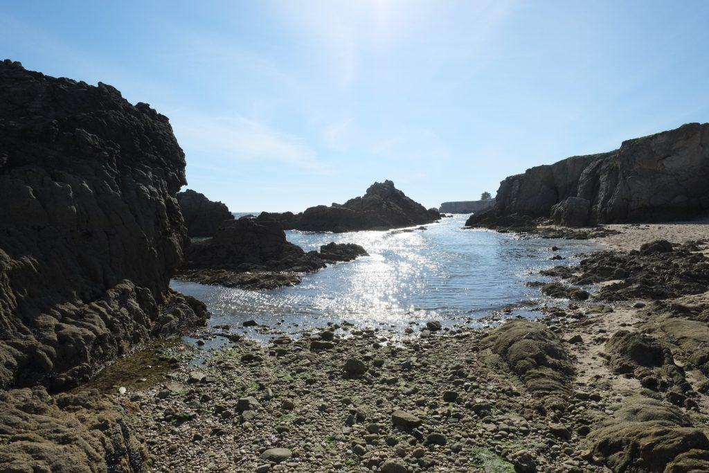 La côte sauvage du Pouliguen en plein été