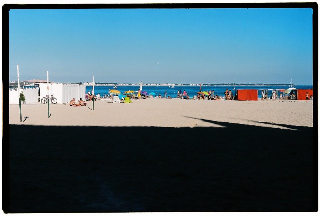 La plage du Pouliguen en fin de journée