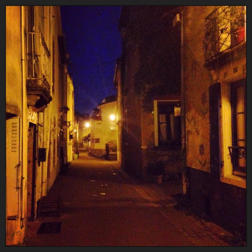 Le village de Trentemoult la nuit