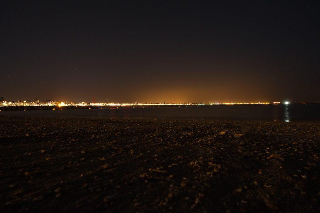 Vue sur la baie de la Baule depuis la plage du Pouliguen