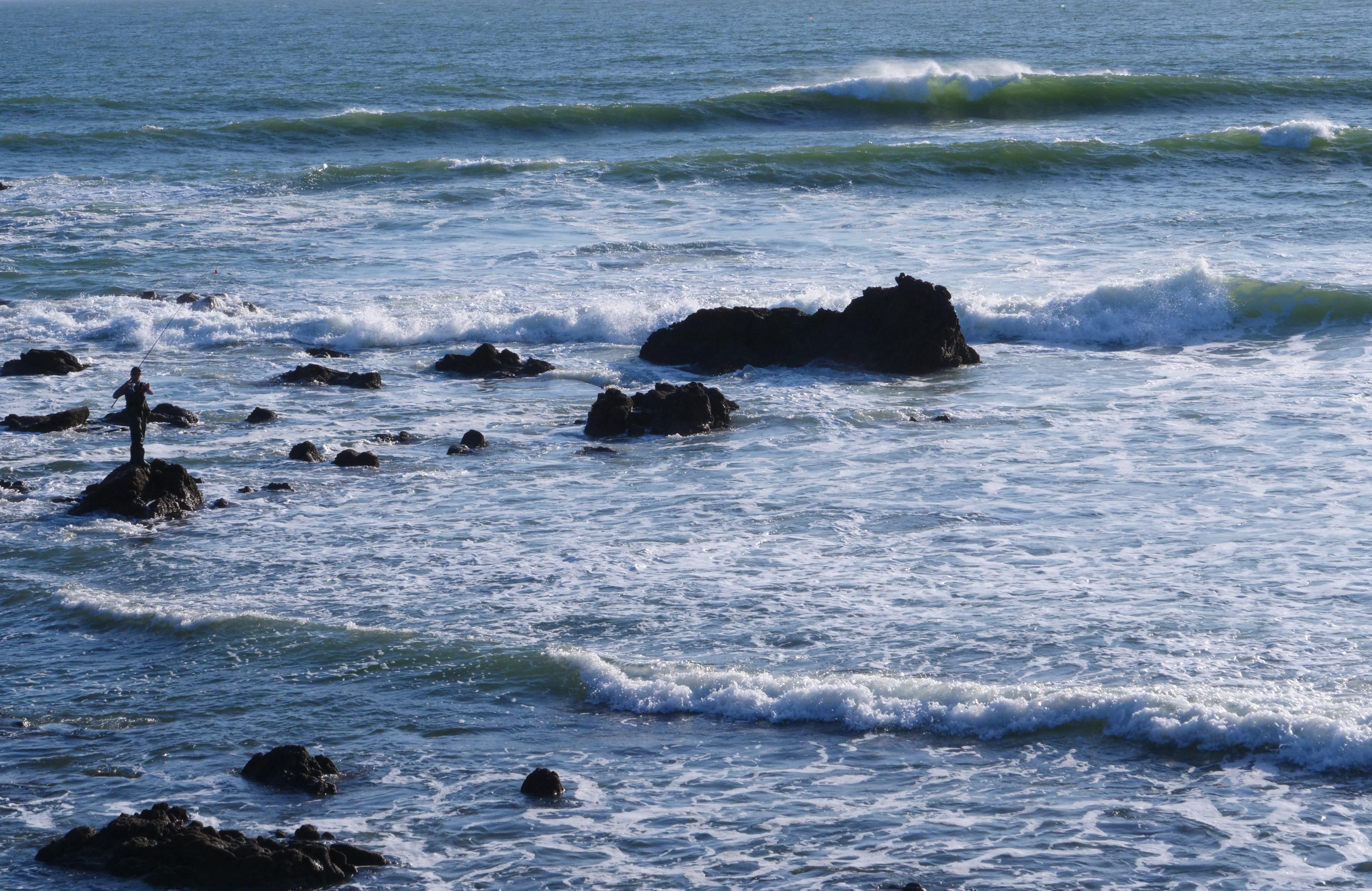 Les jolies vagues de la plage de la Govelle