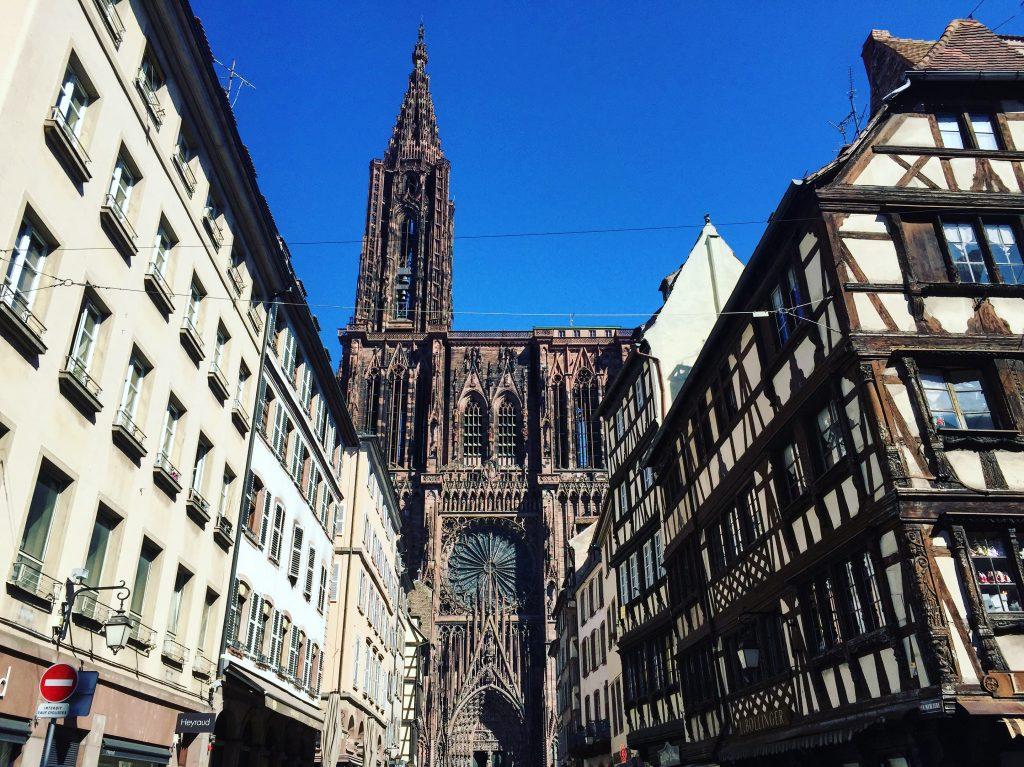 La belle cathédrale de Strasbourg. L'une des plus belles cathédrales de France