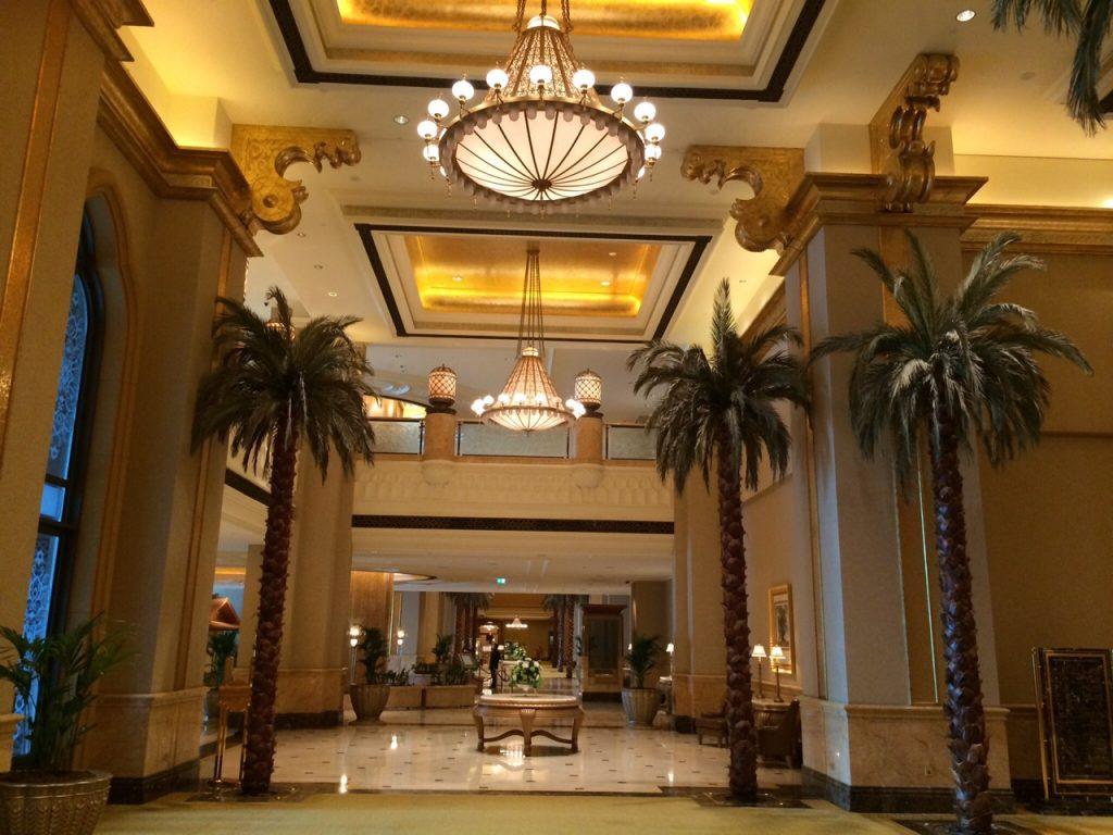 L'Emirate Palace à Abu Dhabi, l'hôtel le plus luxueux du monde