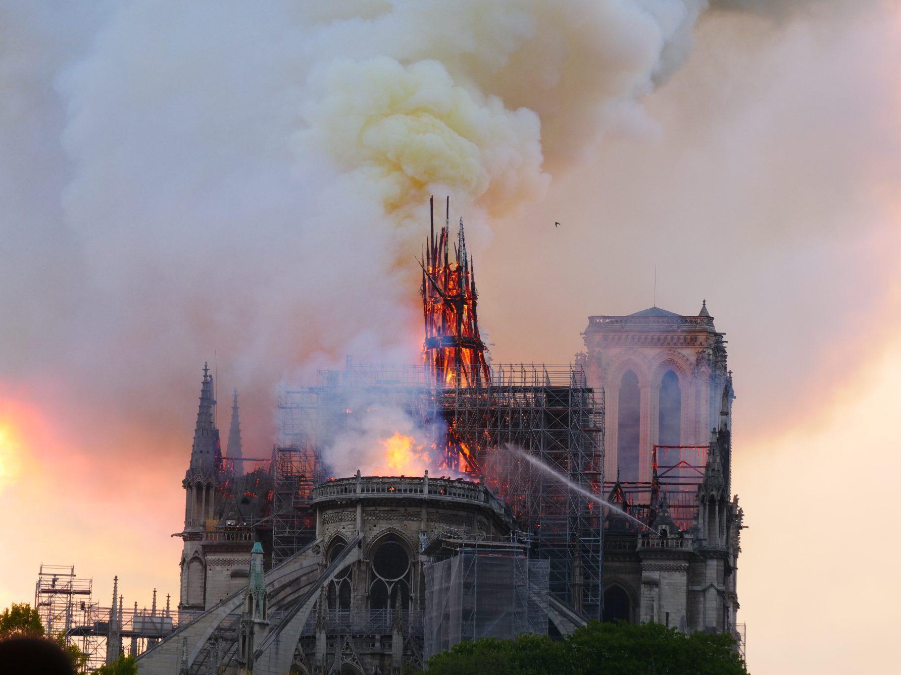 L'incendie de la cathédrale de Paris