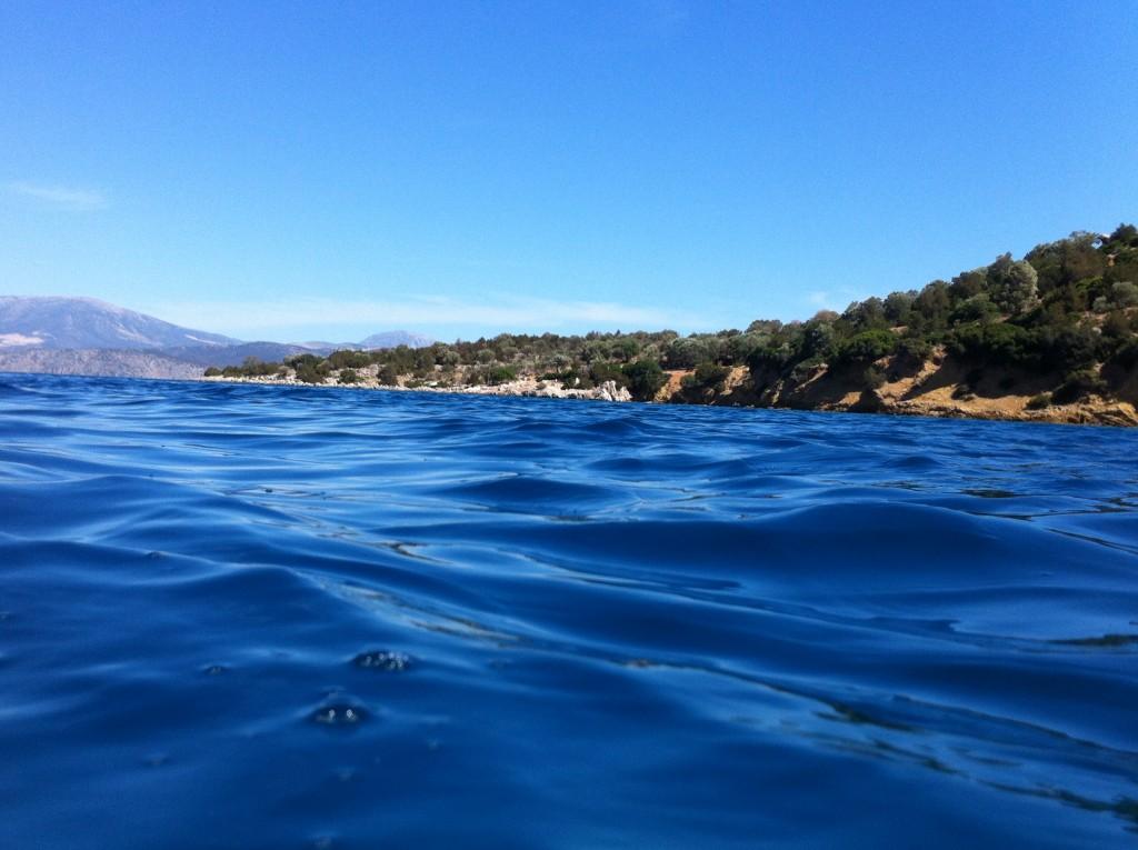 Le bleu de la mer est sans limite