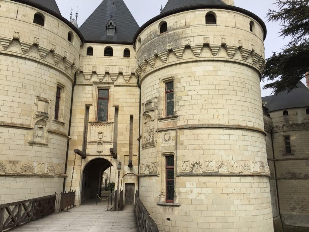 Le pont-levis du château de Chaumont