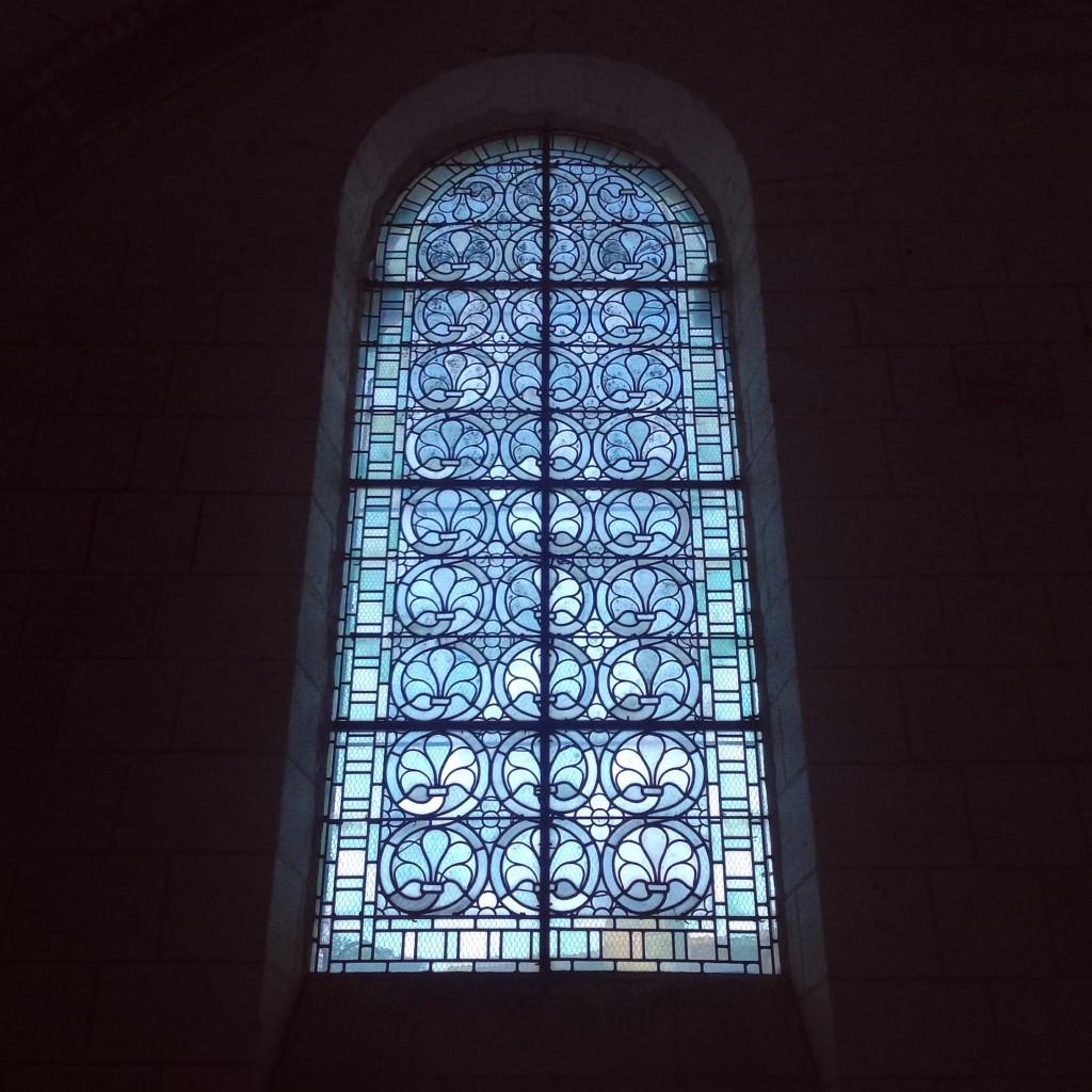 L'un des vitraux de la Collégiale de Loches