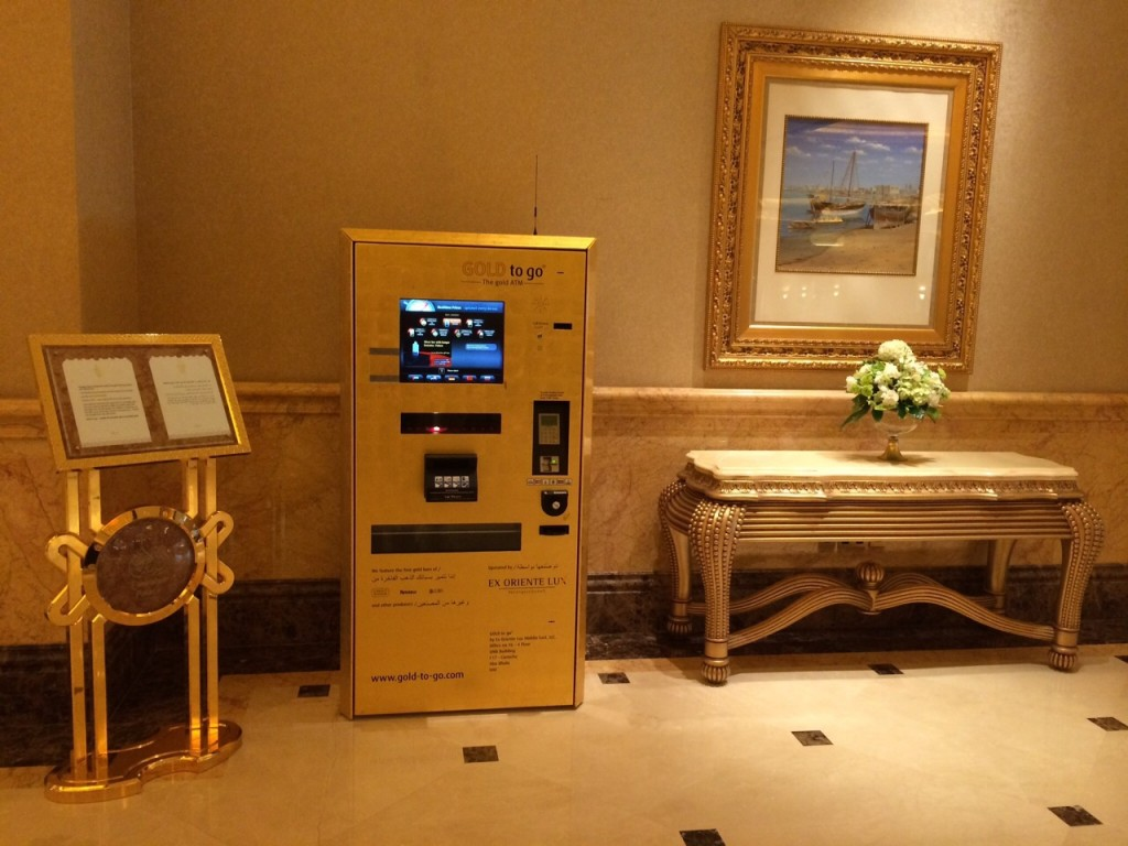 Un distributeur automatique de lingots d'or