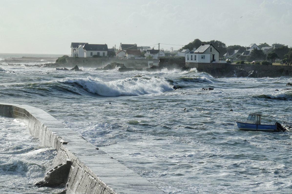 Une vague hallucinante venant se fracasser sur la côte